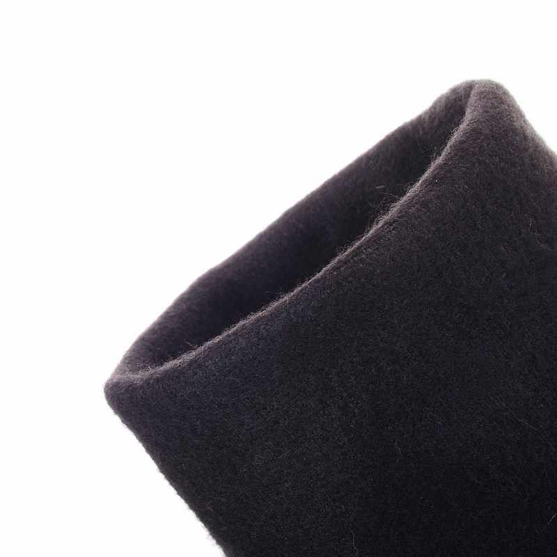 ASUMER Artı boyutu 34-47 yeni moda diz üzerinde çizmeler düz uyluk yüksek süet çizmeler düşük fiyat siyah kadın moda çizmeler bayan