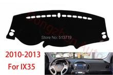 Car dashboard Evite cojín ligero Instrumento cubierta del escritorio de la plataforma Esteras Alfombras de Auto accesorios Para hyundai ix35 2010-2013