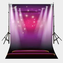150x220cm Shiny Stage Scene Backdrop Ultraviolet Spotlight Photography Background