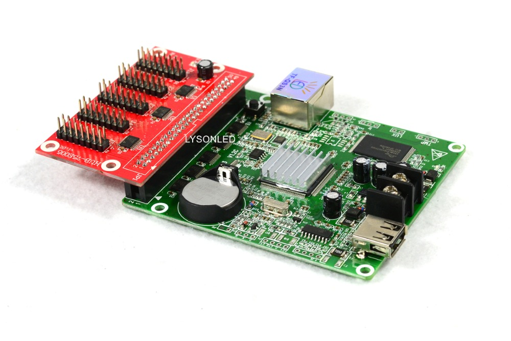 Image 4 - Asynchronous Full color LED Control Card TF QS3N +Hub 75E005 , USB disk & Gigabit Ethernet LED Video Card Support P2.5/P3 Indoor-in LED Displays from Electronic Components & Supplies