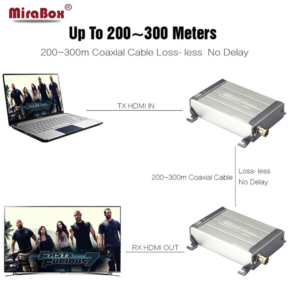 Mirabox HDMI Extender 1080P 200m LossLESS No Delay HDMI Over