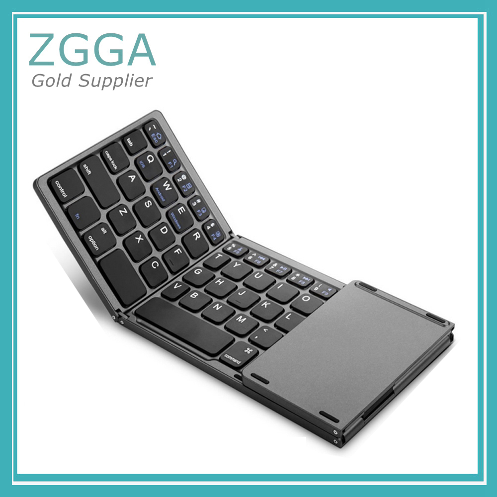NEW Foldable Wireless Bluetooth 3.0 Keyboard Portable Mini Touchpad Mouse Keyboards For Windows Android brand new mini wireless english bluetooth keyboard mouse touchpad for windows android pc