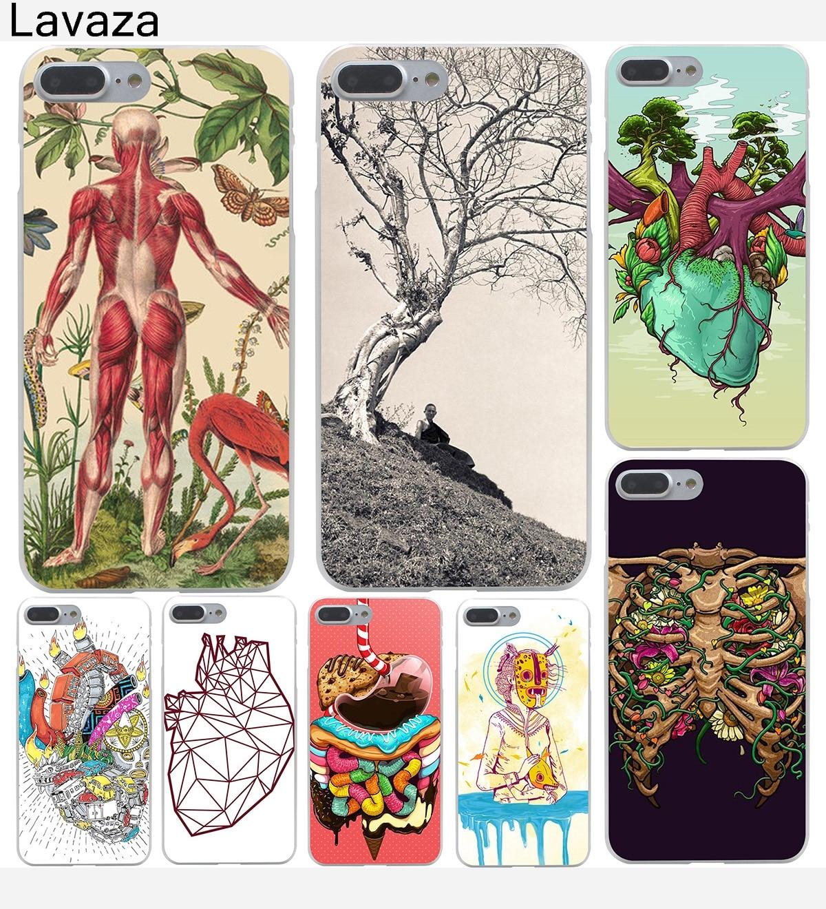 CASE DESIGNS HUMAN ANATOMY Hard Transparent Cover Case for iPhone 8 8 plus 7 7 Plus X, 10 6 6s Plus 5 5S SE 5c 4 4S