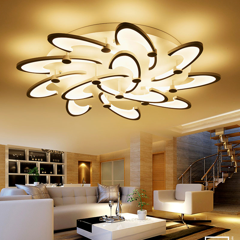 LED Acrylic living room ceiling lamps simple modern Novelty ceiling lights creative bedroom fixtures diningroom ceiling lighting