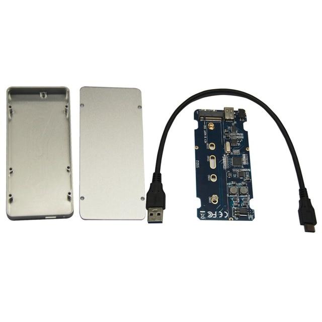 Protable USB 3.1 Enclosure Box M.2 SSD Raid External Hard Drive Disk Box Case LR31-1352M For Desktop PC Notebook Free Shipping