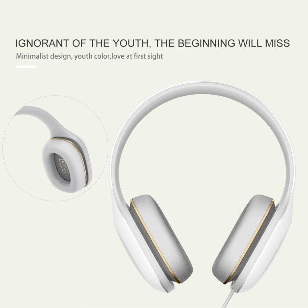 Original Xiaomi Mi Headphones Easy Edition With Mic Headset Stereo Music HiFi Earphone Button Control Headphone mi headphones comfort white