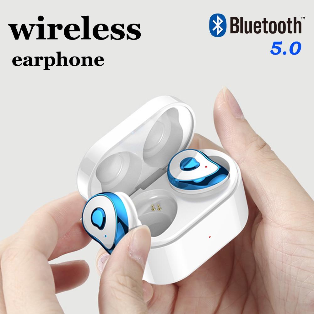 TWS Mini Bluetooth Earphone 5.0 Half In Ear Wireless Earbuds Bluetooth Headset Stereo Headphone For IOS Android Xiaomi Phone