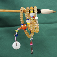 Free Shipping 9mm*6mm Natural Genuine Antelope Bone Abacus Shape 108 Buddlist Prayer Beads with accessories Wholesale Price