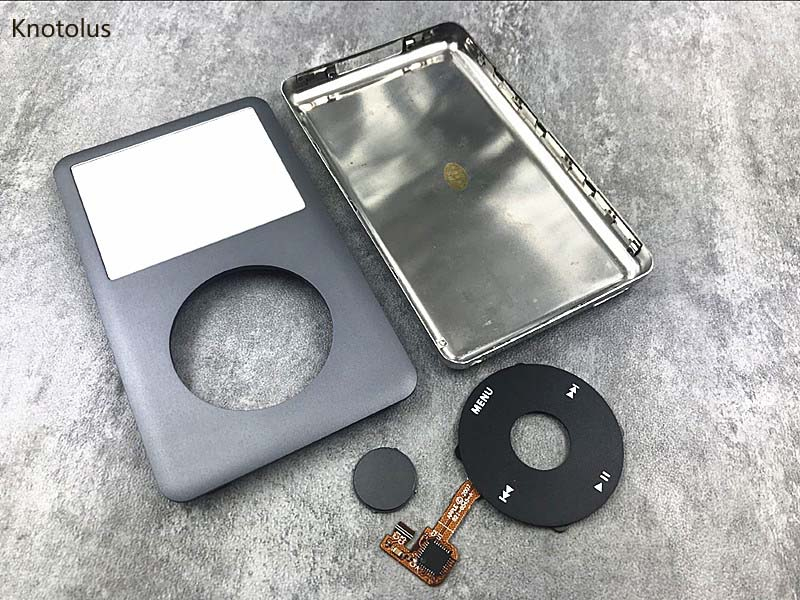 New iPod 6th 6.5 7th Gen Classic Black Front Faceplate 256GB Back Cover Housing