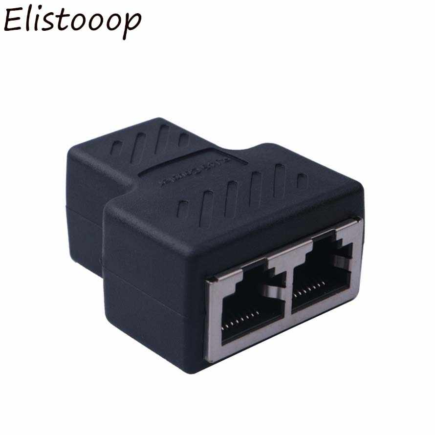 Один Разделение два способа сети Ethernet головка сетевой соединитель кабеля муфта RJ45 CAT 5 5E 6 6a удлинитель разъем сетевой разъем Разделение тер