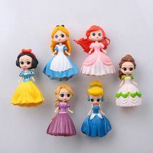 Frozen Fridge Magnets 3d People Souvenir Mermaid Snow White Princess Aisha PVC Magnetic Sticker Kids sticker Decora