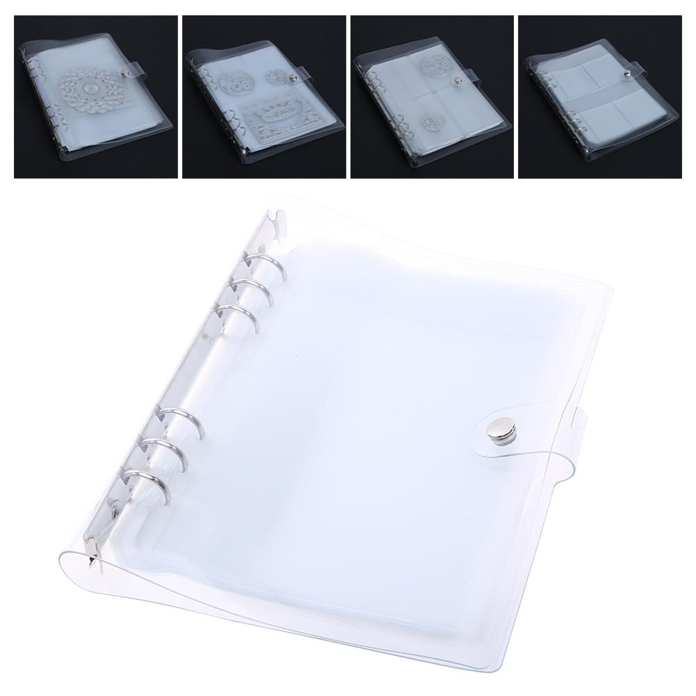 10 hojas DIY Scrapbooking Cutting Dies Case colecciones almacenamiento libro álbum para cortar troqueles Metal Stencil Holder almacenamiento