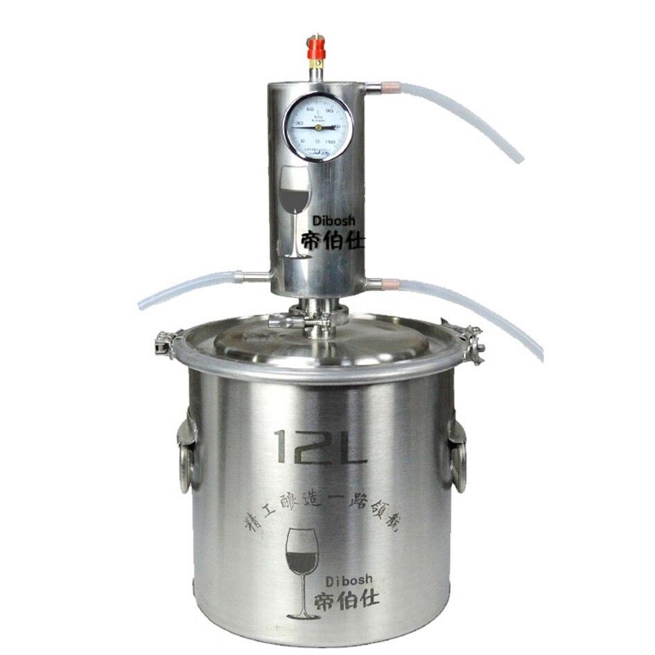 Kit distillateur d'alcool Moonshine 12L Vodka faisant la Machine alcool de distillerie de brassage à la maison