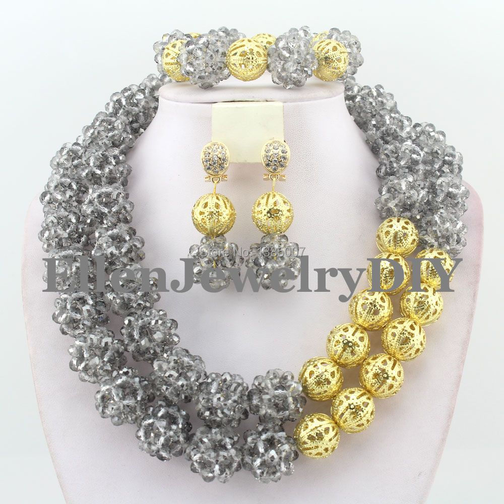Nigerian Wedding African Crystal Balls Jewelry Sets African Beads Jewelry Sets   W8183Nigerian Wedding African Crystal Balls Jewelry Sets African Beads Jewelry Sets   W8183