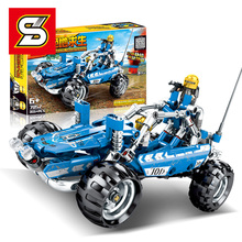 Sembo Blocks PUBG Series Eat Chicken Cable Bouncing Cars Truck Model Building Bricks Kids Toys Gifts