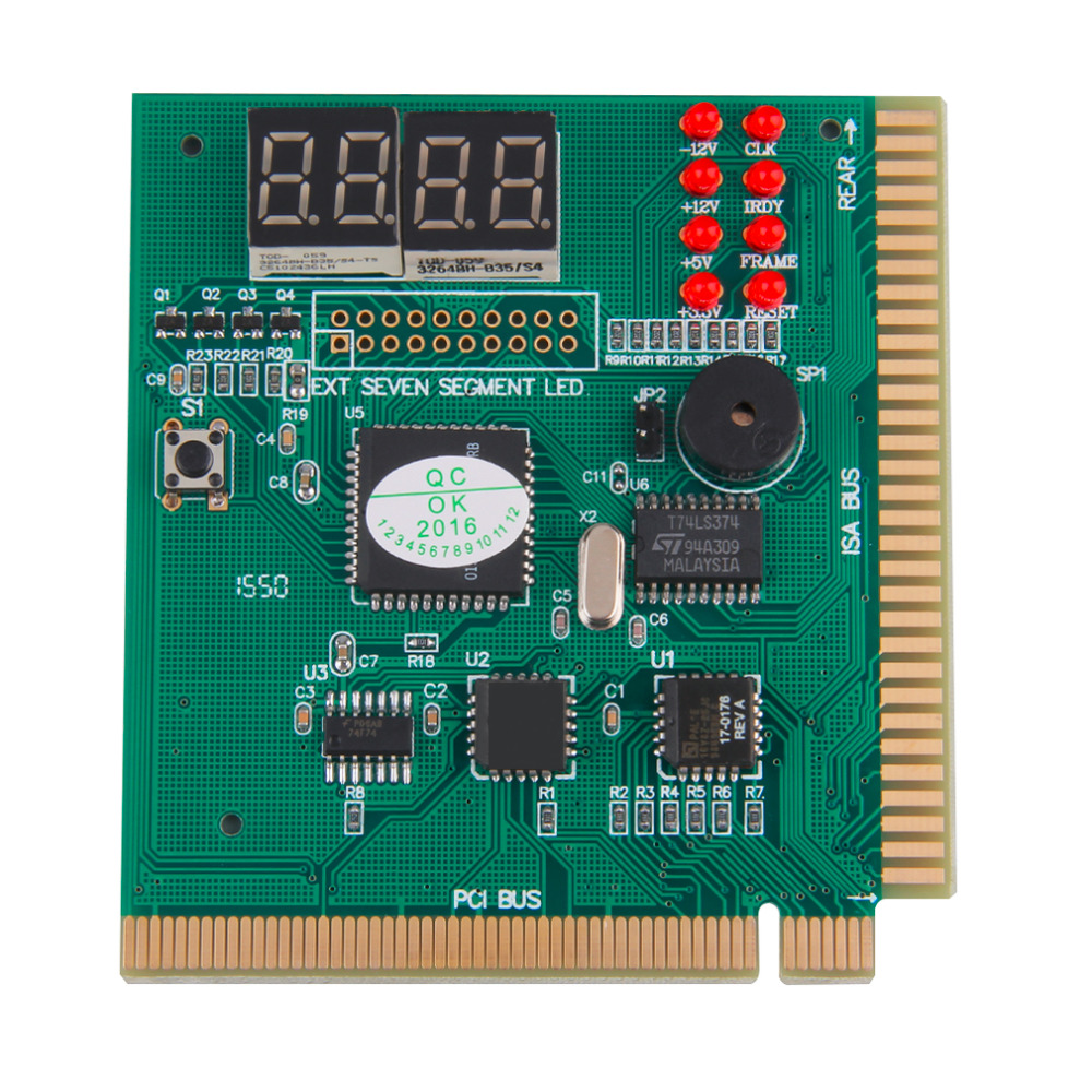 4 Digits Analysis Diagnostic Motherboard Tester Desktop PCI Express Card