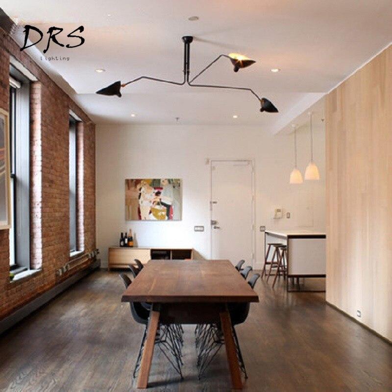 Скандинавские Ретро Потолочные светильники Serge Mouille промышленный деко простой светодиодный светильник для гостиной спальни домашний освет... - 3