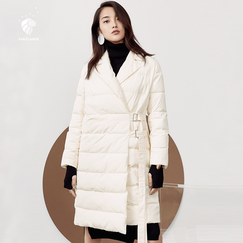 FANSILANEN 2018 Fashion New Arrival Autumn/Winter Womens Coat Down Jackets Brands Plus Loose Big Size Z73225