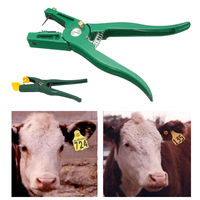 100 Numbers Livestock Pig Goat Sheep Ear Tags ID Labels+Tag Applicator Pliers For Epidemic Prevention