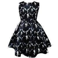 Top New Korean Girls Printed Cotton Dress In Bitter Fleabane Bitter Fleabane Dress Pleated Dress Printing