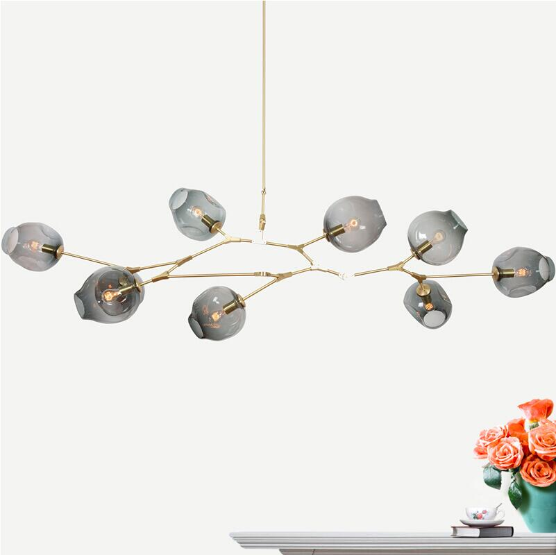 Glass Ball Branching Bubble Pendant Chandeliers For Dining Room Living Room Modern Chandelier Lighting Lustre 9 Leds E27 Lamp glass ball branching bubble pendant chandeliers for dining room living room modern chandelier lighting lustre led avize e27 lamp