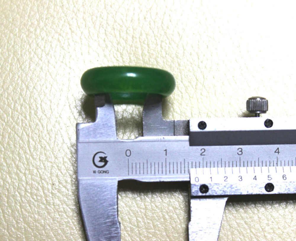 แรกจัดส่งที่ดีจีนสีเขียวธรรมชาติมือแกะสลักผู้ชาย/ผู้หญิงแหวน