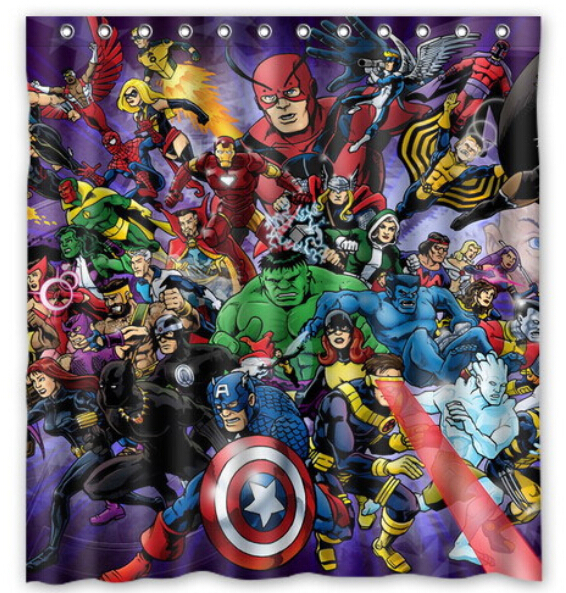 Custom The Avengers Cool Fashion Home Living Waterproof Bathroom Nice Best Decor Shower Curtain 150x180cm Free