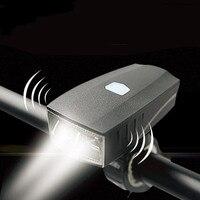 waterproof usb bike light with horn alarm powerful led light 350 lumen USB rechargeable mtb bike front light bike accessories