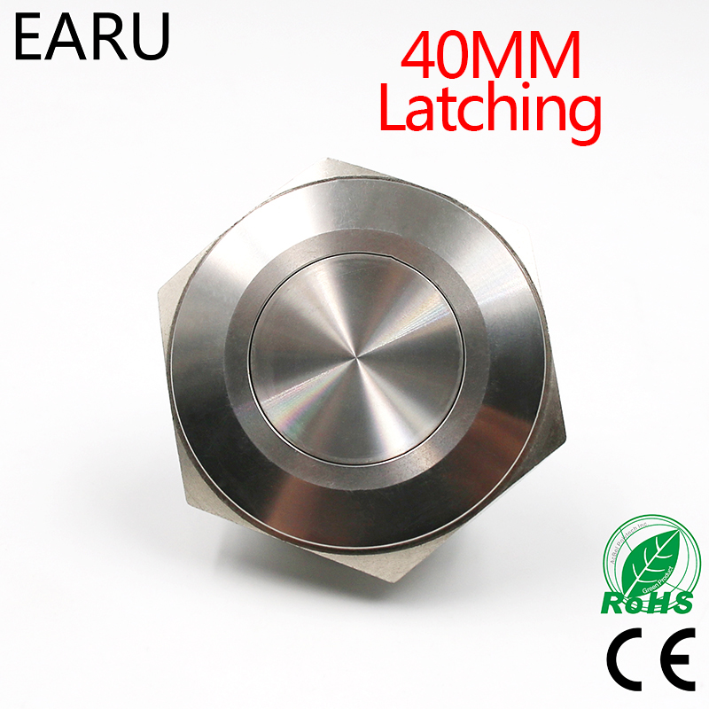 40mm Metal Stainless Steel Waterproof Latching Doorebll Bell Horn Push Button Switch Car Auto Engine Start PC Power Locking 40mm stainless steel metal latching waterproof doorbell bell horn led push button switch car auto engine start pc power symbol