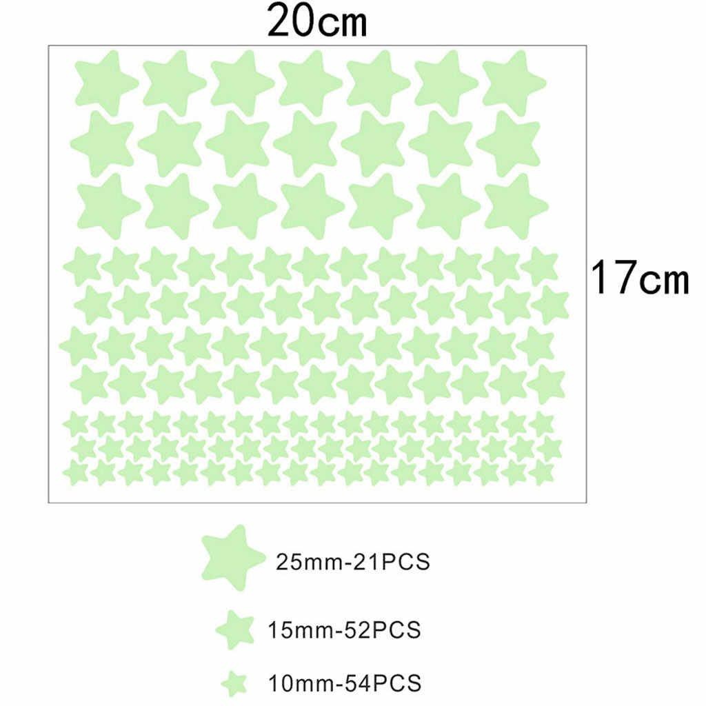 3D gwiazdy świecą naklejki ścienne w ciemności Luminous fluorescencyjne naklejki ścienne wystrój pokoju specjalne ściany decorbedroom Decor stick