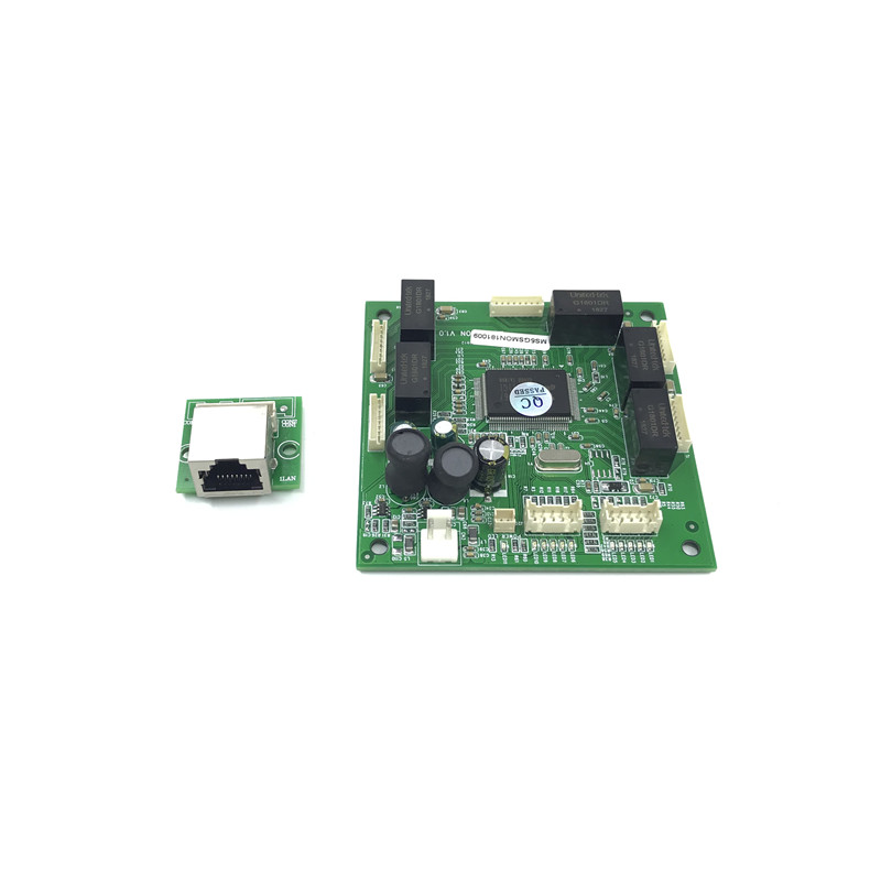 Image 3 - Industrial Ethernet Switch Module 10/100/1000mbps 4/5/6 port PCBA board OEM Auto sensing Ports PCBA board OEM  Motherboard-in Network Switches from Computer & Office