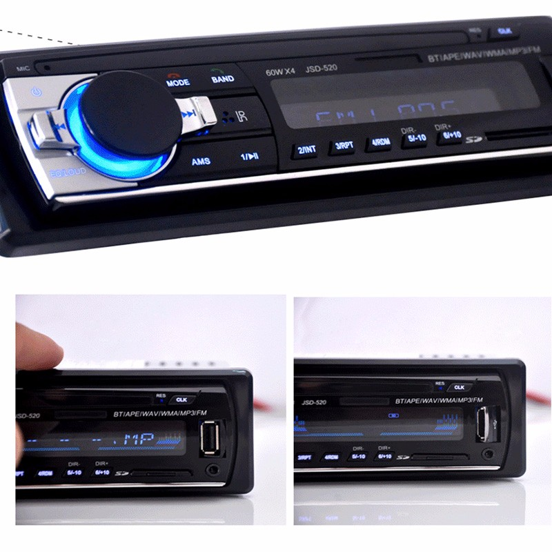 New 12V Car Stereo FM Radio MP3 Audio Player Support Bluetooth with USBSD MMC Port Car speaker for iPhone xiaomi MP3 Playres (4)