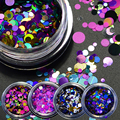 1g Hot Fashion Mixed Mini Round Thin Nail Art Glitter Paillette Nail Tip Bottle Gel Polish Decoration Manicure Tools P09-16