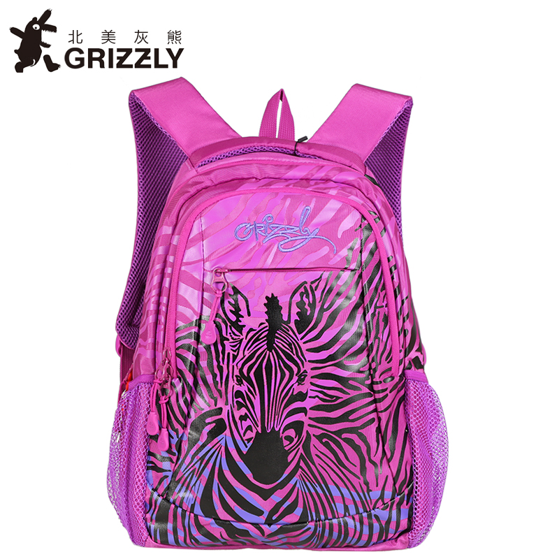 GRIZZLY New Fashion Women Pretty Backpack for Teenager Girl School Bags High Quality Casual laptop Mochila Waterproof Travel Bag