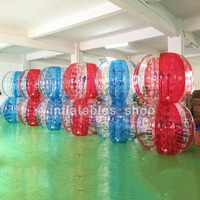 Free Shipping TPU Material 10 PCS(5 Red+5 Blue+1 Pump) Im Zorb Ball,Bubble Soccer Bumper Ball For Sale