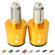 22 мм CNC МОТОЦИКЛ рукоятки для руля слайдер колпачок штекер Moto Вес ручки для руля Крышка Для MV AGUSTA F4 1000 F4 RR/F4 RC 2011