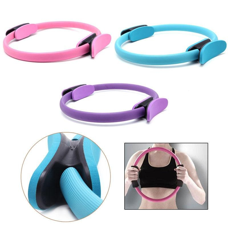 37CM Yoga Pilates Ring Fitness Circle 3 Color Fitness Tool Dual Grip Pilates Ring Magic Circle Muscles Body Exercise