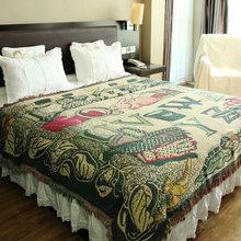 230x250cm engrossar cobertores de algodão para cama lance casa lazer sofá cobertor capa de piano tapete jacquard coverlet chausub
