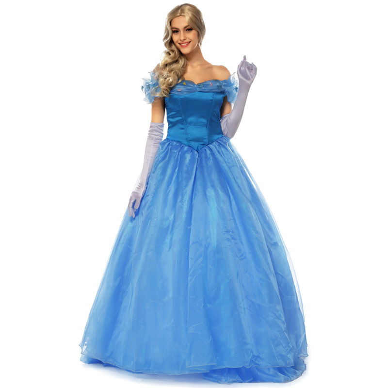 Cinderella Blue Adult Princess Dress Women Halloween Cosplay Costume  Beautiful Lady Party Dresses In Dresses From Womenu0027s Clothing On  Aliexpress.com ...