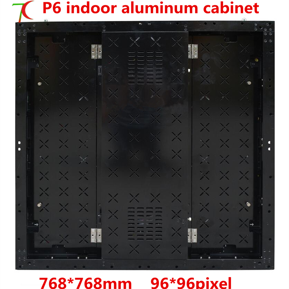 768*768mm indoor P6 HD SMD full color aluminium equipment cabinet rental led display /8scan 27777dots/m2