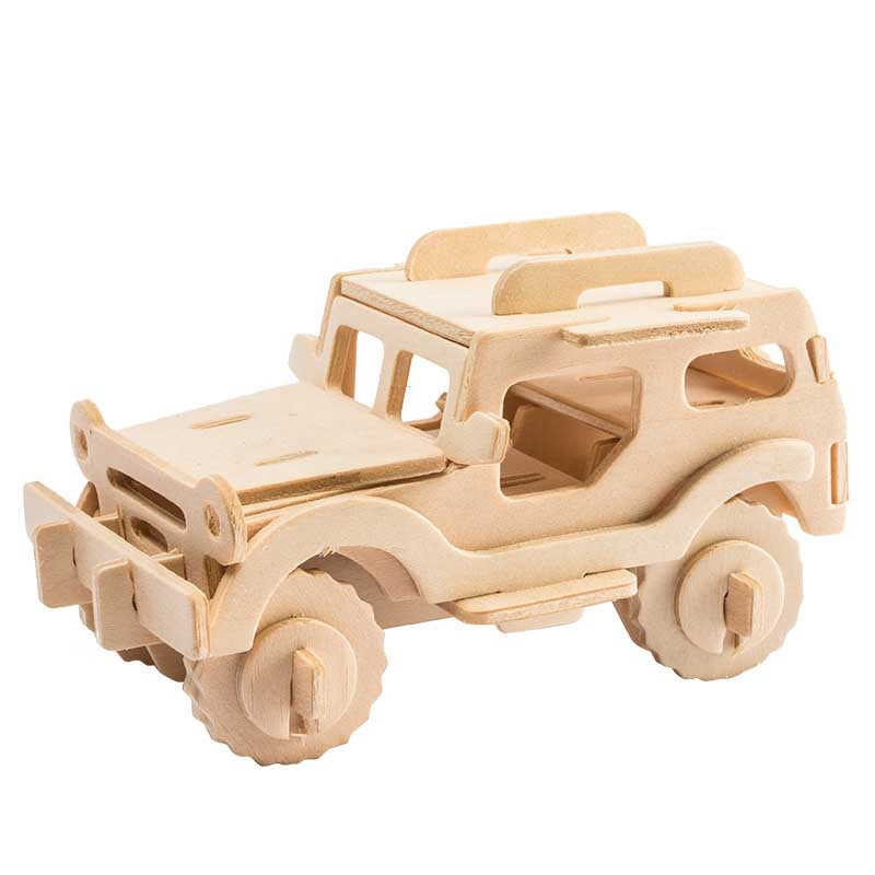 Robud DIY 3D Wooden Puzzle Assembly Wooden Car & Animal  Educational Toys for children