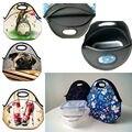 65 цвета Неопрена обед сумки кулер изоляции молния коробка обеда для женщин обед сумка тепловая для детей тотализатор сумочку водонепроницаемый