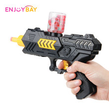 Enjoybay Water Ball Gun Toy Soft Crystal Beads Bursts CS Shooting Game Pistol Toy with Bullets Funny Outdoor Toy for Family Kids super power plastic shooting gun with 4 sponge bullets