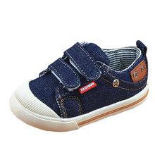 Dzieci buty dla dziewczyn Boys sneakers Jeans płótno dzieci buty denim Running Sport Baby sneakers Boys buty CSH227 tanie tanio buty na co dzień Stałe 3T 4T 7T 12M 6T 24M 5T Wiosna jesień Gumowe Unisex Mięsień krowa Zaczep pętli Z Rotherham