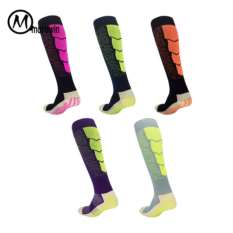 Morewin Sports Over Knee Football Soccer Socks High Training Long Stocking Skiing Warm Sports Socks Adult Calf Outdoor Socks