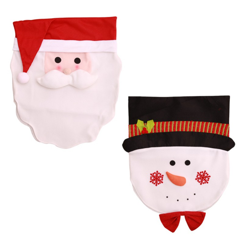 Miglior acquisto ) }}Christmas Kitchen Chair Slip Covers Featuring Santa Claus for