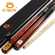 O`MIN Extreme  Handmade 3/4 Jointed Snooker Cues Sticks  10mm Tips pool cue Nine-ball  billiards stick high quality wood made