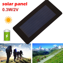Amzdeal Solar Panel Solar Charger Pane Durable Waterproof Flexibility Solar Generator 0.3W 2V Portable