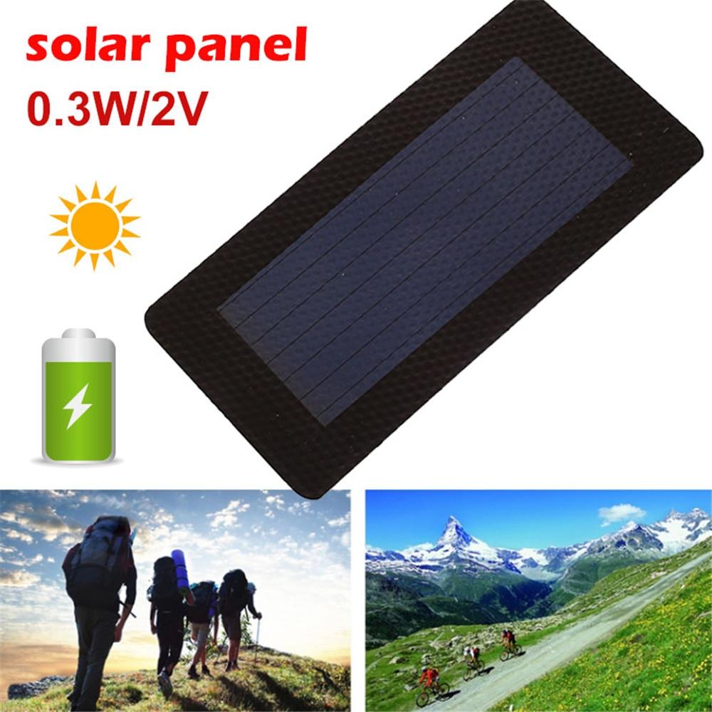 Amzdeal Solar Panel Solar Charger Pane Durable Waterproof Flexibility Solar Generator 0.3W 2V Portable