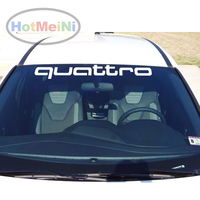 Quattro Quattro For Honda Audi Front Windshield Banner JDM Decal Car Stickers 30 Universal Fit Car